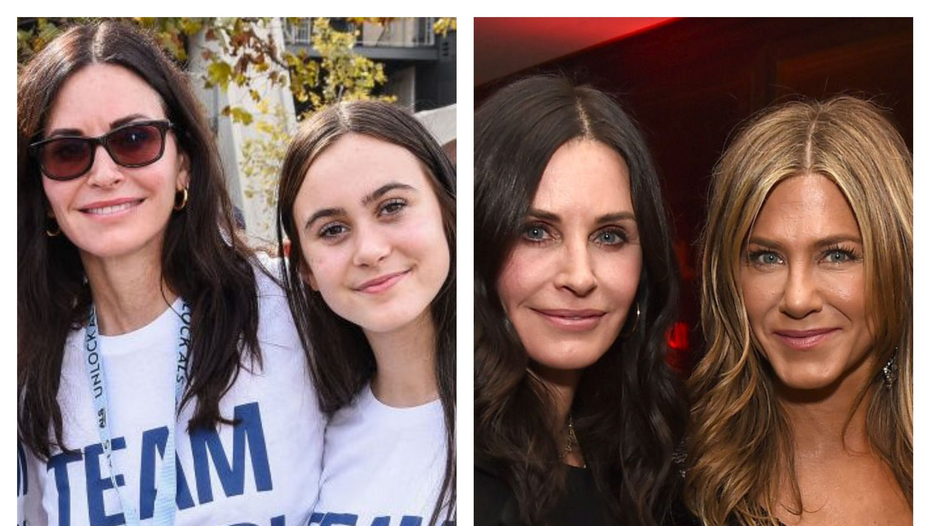 Courteney Cox texted daughter 'I love you' during scare on jet to Jennifer Aniston's birthday