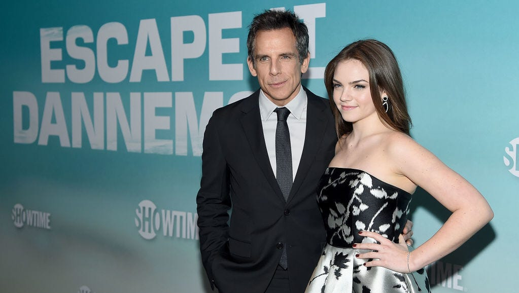 "Ben Stiller and Ella Olivia Stiller attend the ""Escape At Dannemora"" New York Series Premiere at Alice Tully Hall, Lincoln Center on November 14, 2018 in New York City."