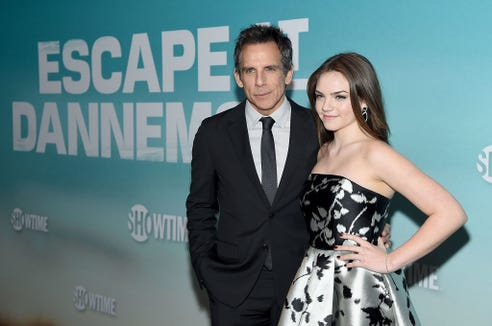 Ben Stiller and his 16-year-old daughter are touring colleges in Southern California. And the actor has a few jokes about the college admissions scandal.