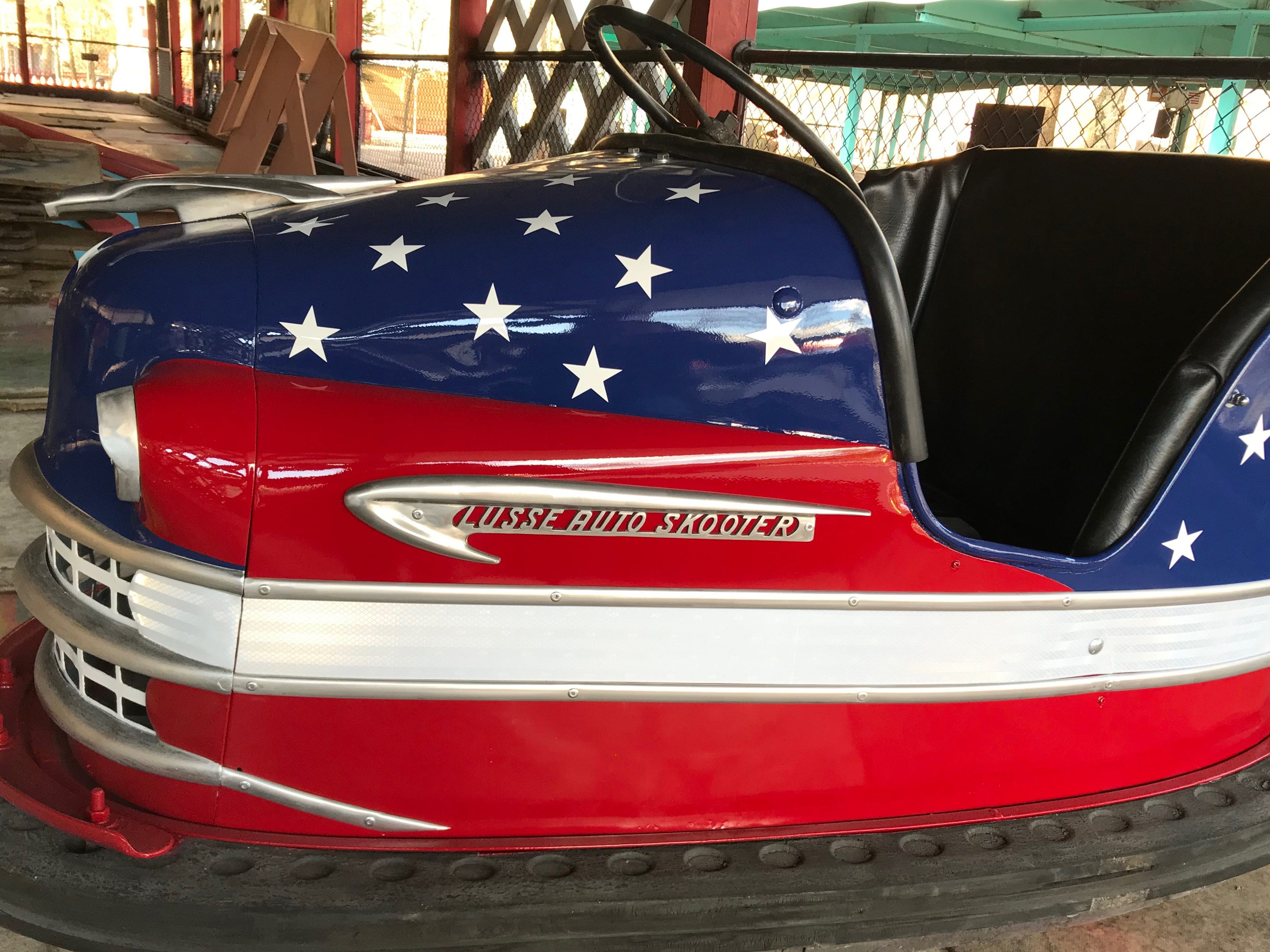 One of the best collections of vintage bumper cars is at Knoebels in Elysburg, Pennsylvania. The park, which dates back to 1926, began offering Dodgem bumper cars in 1947. It switched to Lusse Auto Skooters and has stuck with them ever since.