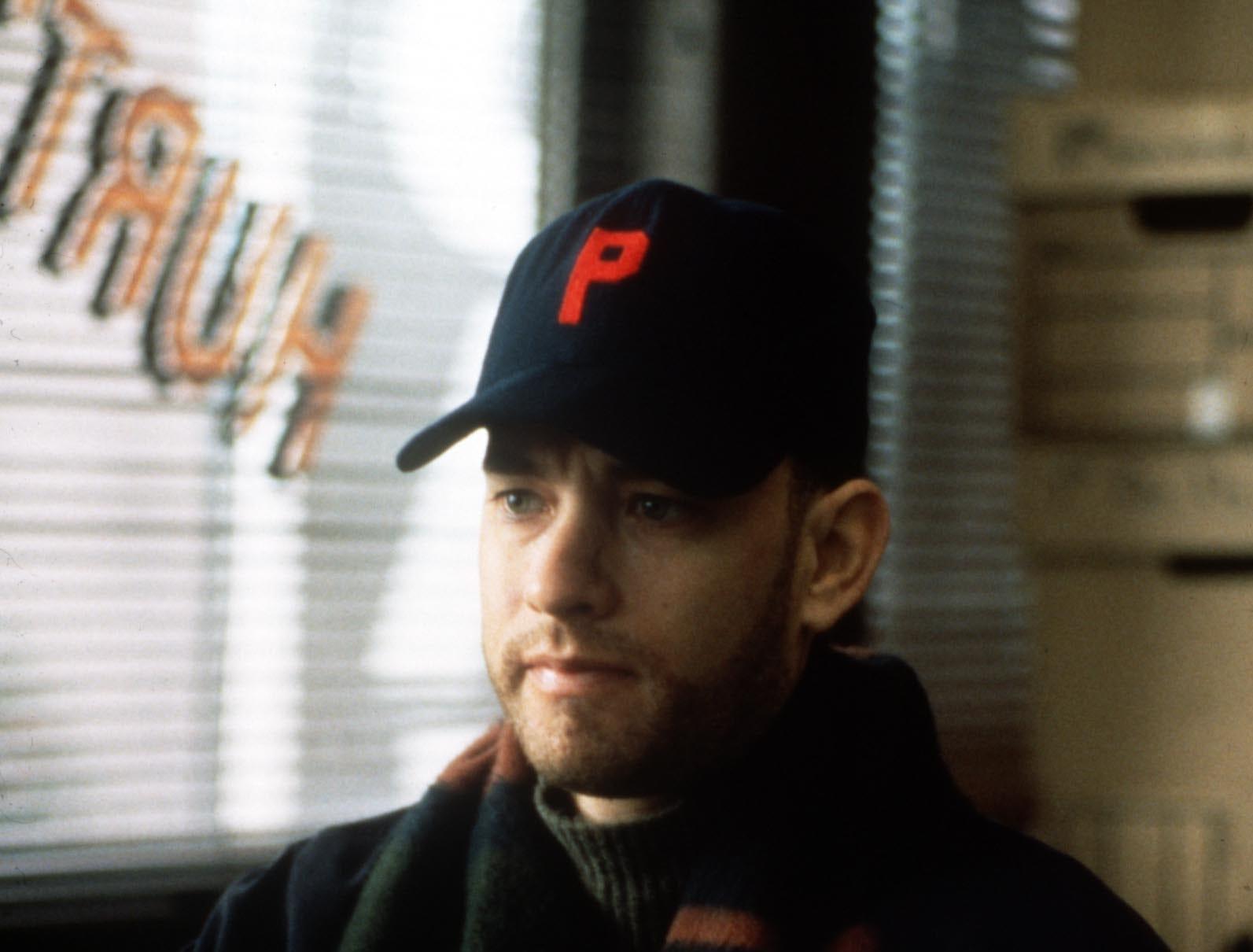 Tom Hanks in a scene from the film Philadelphia.