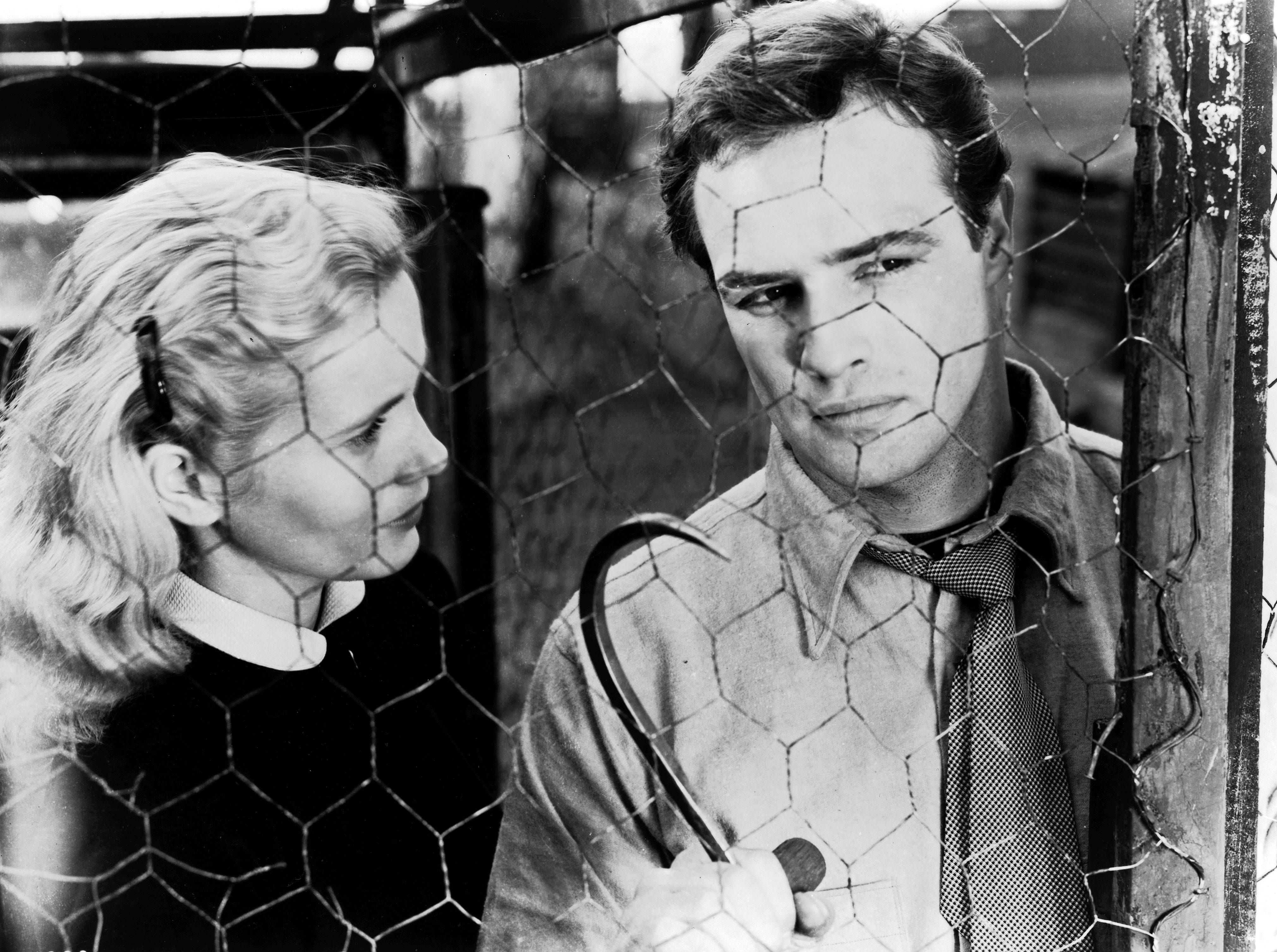 """FILE PHOTO 1954 -- Eva Marie Saint and Marlon Brando in a scene from """"On the Waterfront"""""""