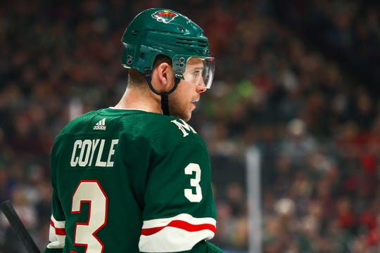 Charlie Coyle is returning to Massachusetts after a trade from the Wild to the Bruins.