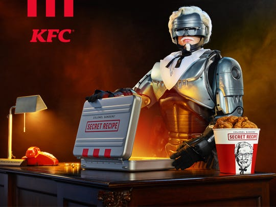RoboCop is latest portrayer of KFC founder Col. Harland Sanders.