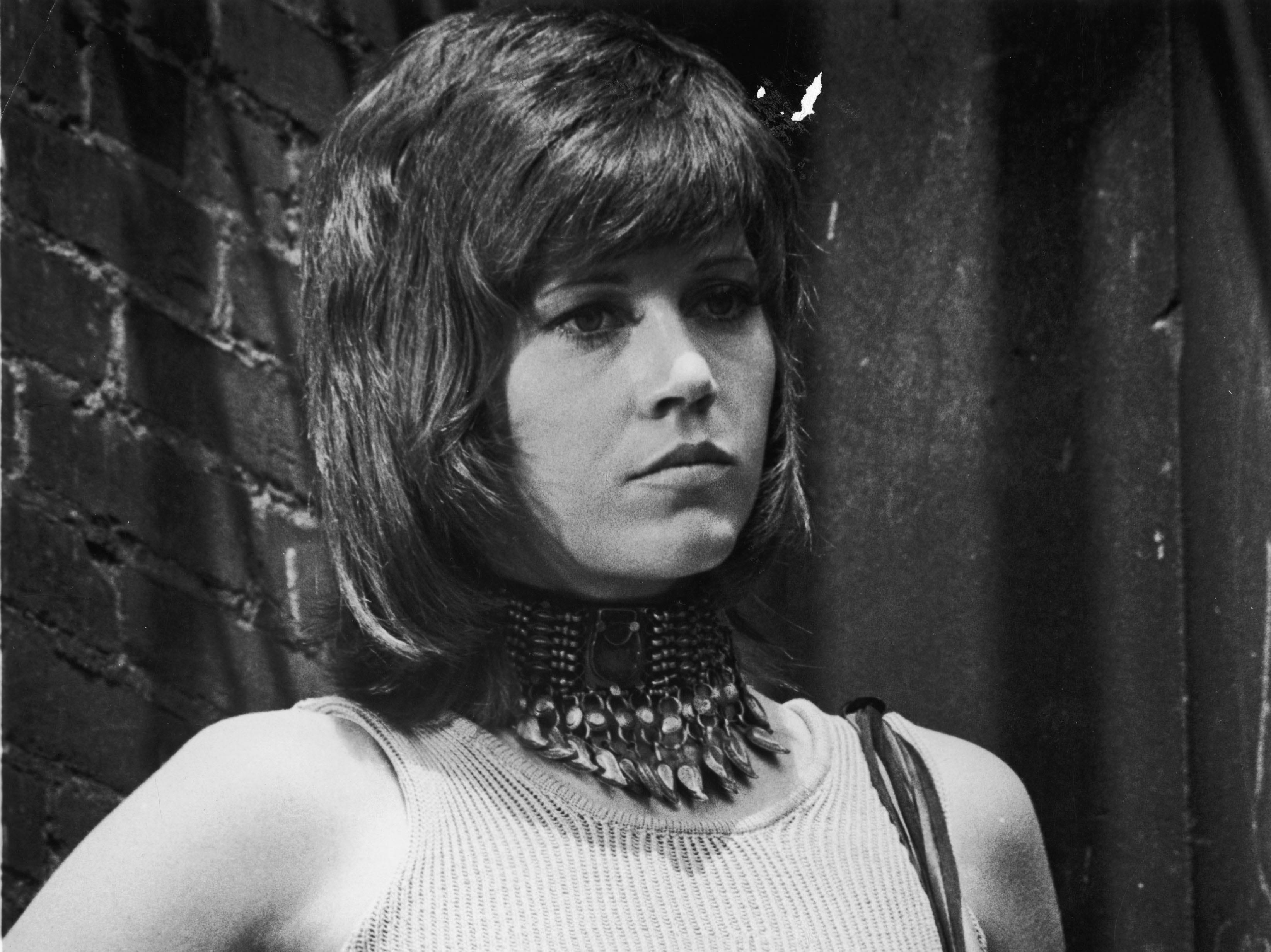 """Jane Fonda in a scene from the 1971 film """"Klute""""."""