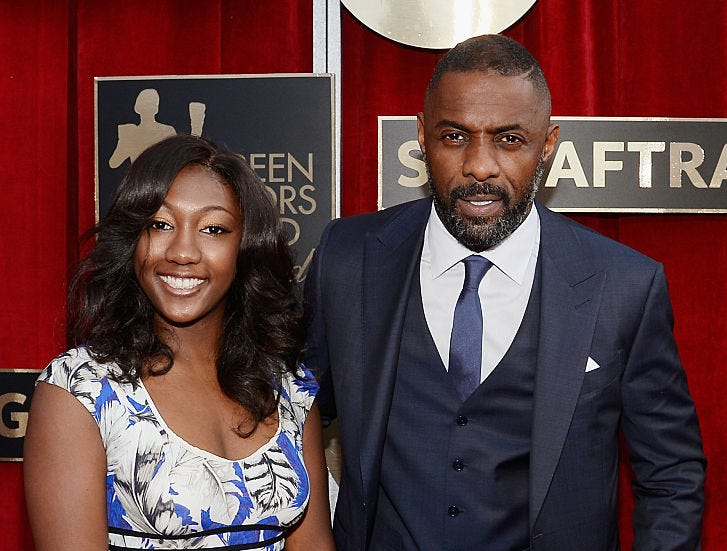 Actor Idris Elba and his daughter Isan Elba attend the 22nd Annual Screen Actors Guild Awards at The Shrine Auditorium on January 30, 2016 in Los Angeles.