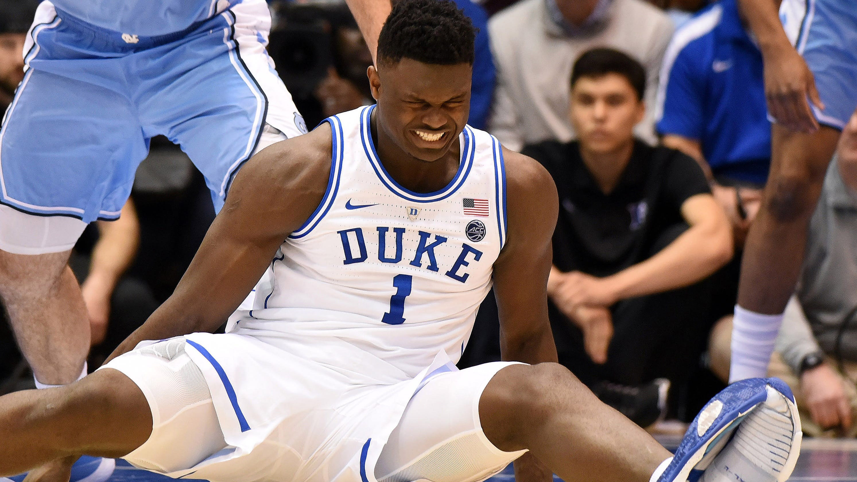 Zion Williamson is day-to-day for Duke after Grade 1 knee ...