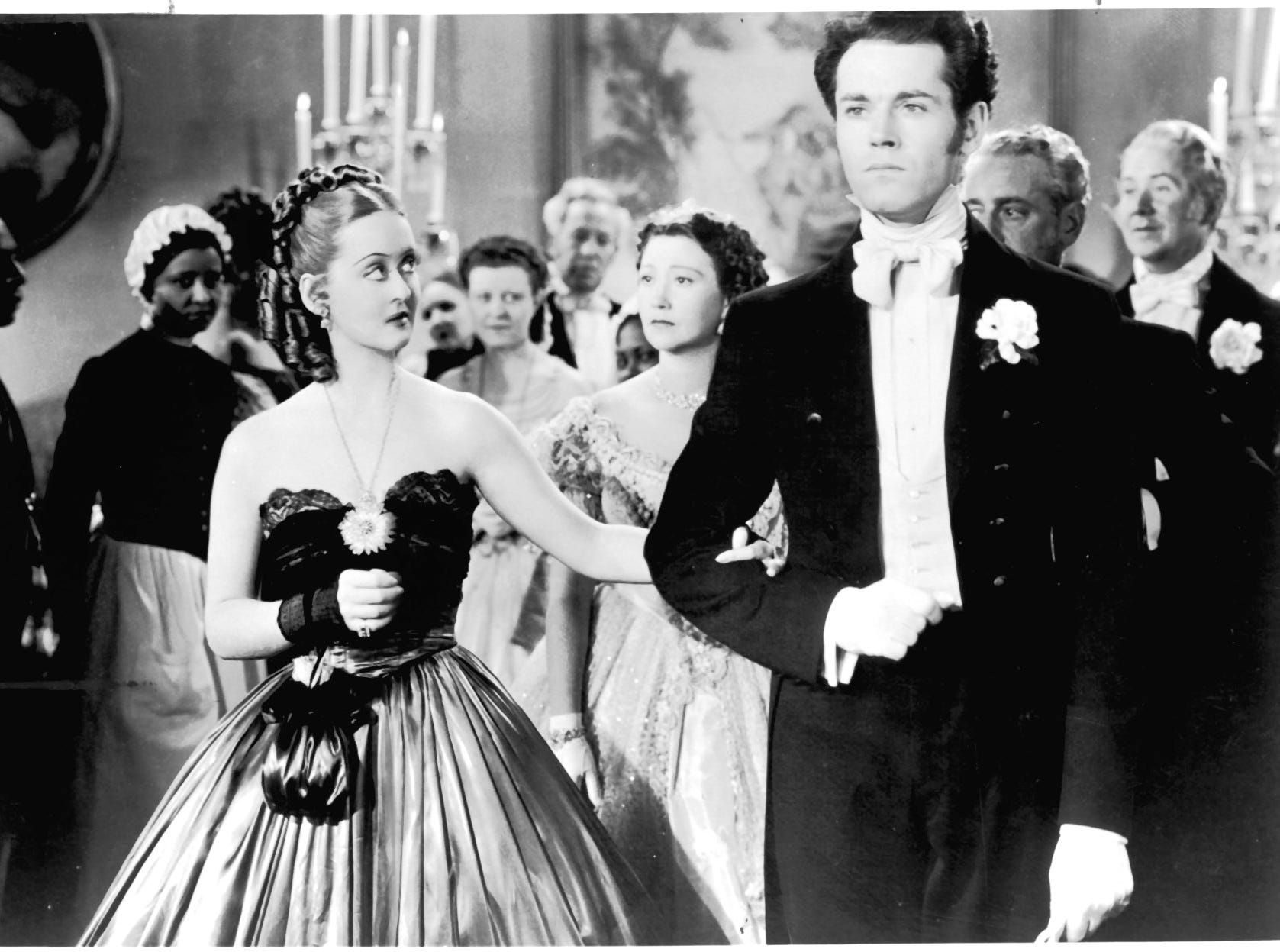 Bette Davis and Henry Fonda in a scene from the motion picture Jezebel.