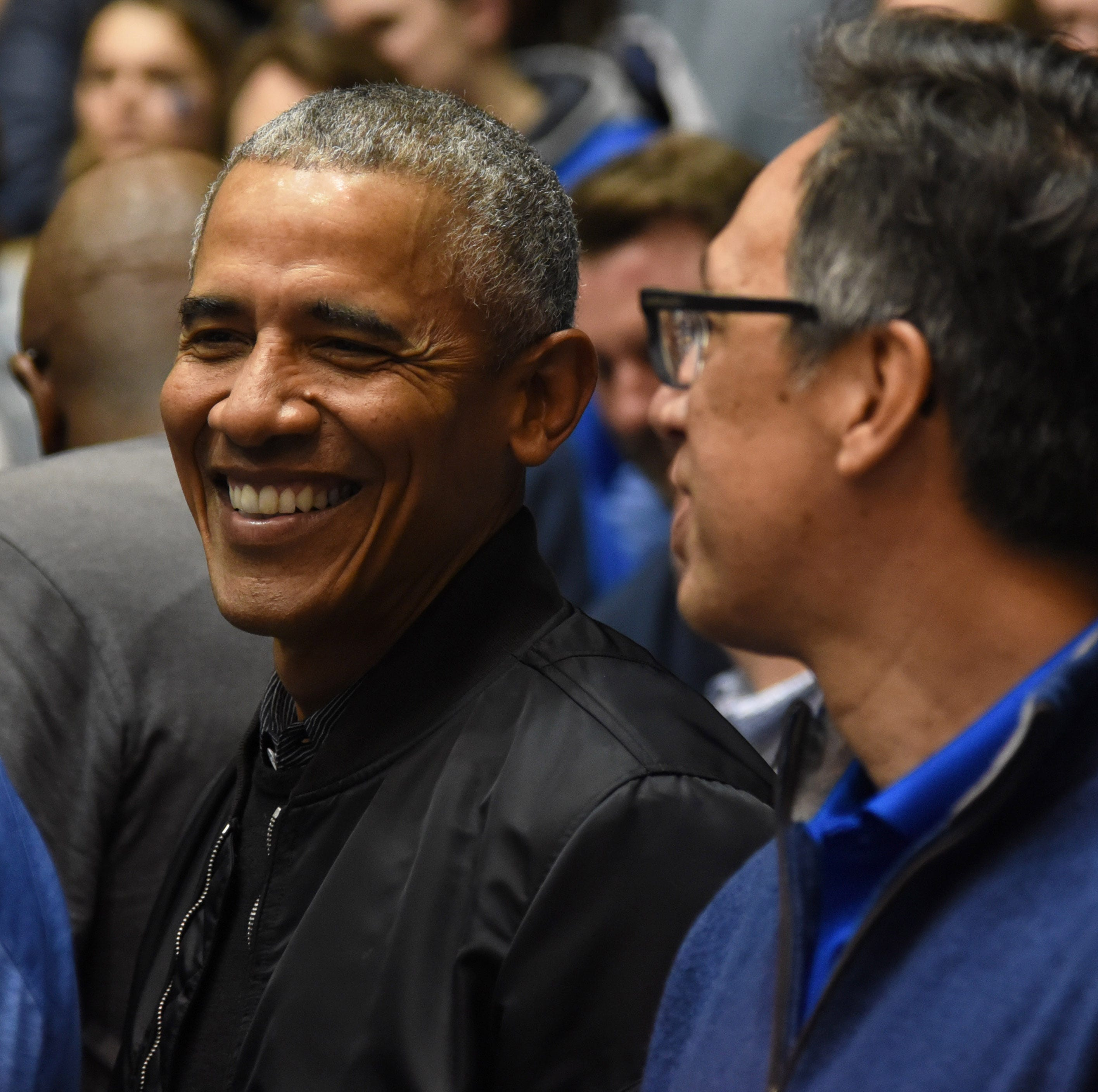 Former President Barack Obama attends Duke-North Carolina, wishes Zion Williamson well