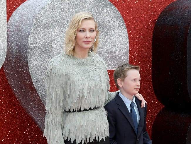 Cate Blanchett and son attend the 'Ocean's 8' UK Premiere held at Cineworld Leicester Square on June 13, 2018 in London, England.