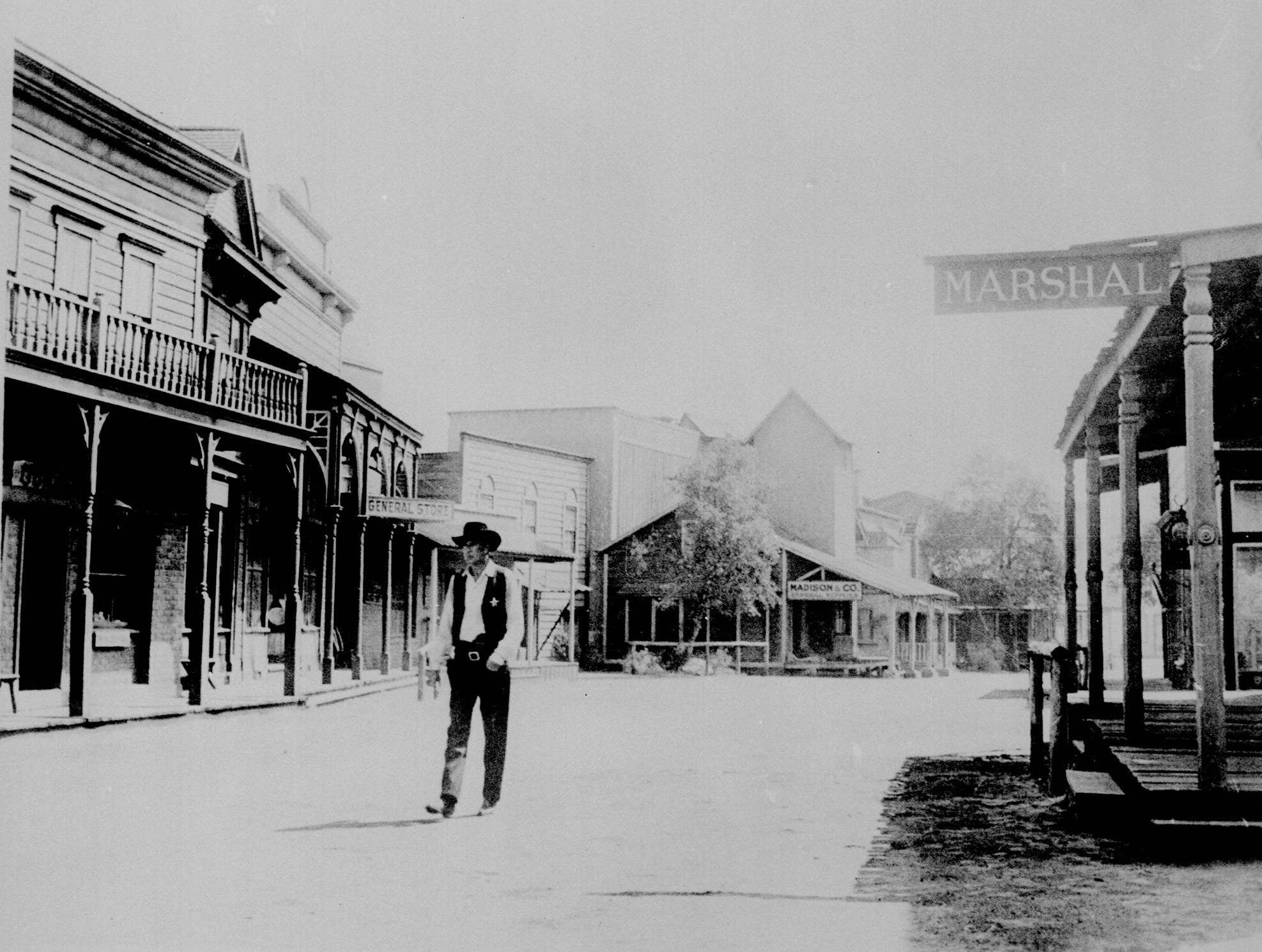 """Gary Cooper, shown in this undated file photo, is seen as the stern sheriff in """"High Noon."""" He walks down a deserted street of a western town for a performance that won him acclaim and a second Oscar."""