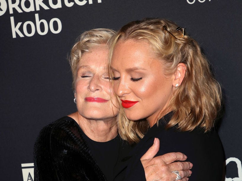 "Actress Glenn Close (L) and daughter actress Annie Starke attend Sony Pictures Classics' Los Angeles premiere of ""The Wife"" at the Pacific Design Center on July 23, 2018 in West Hollywood, California."