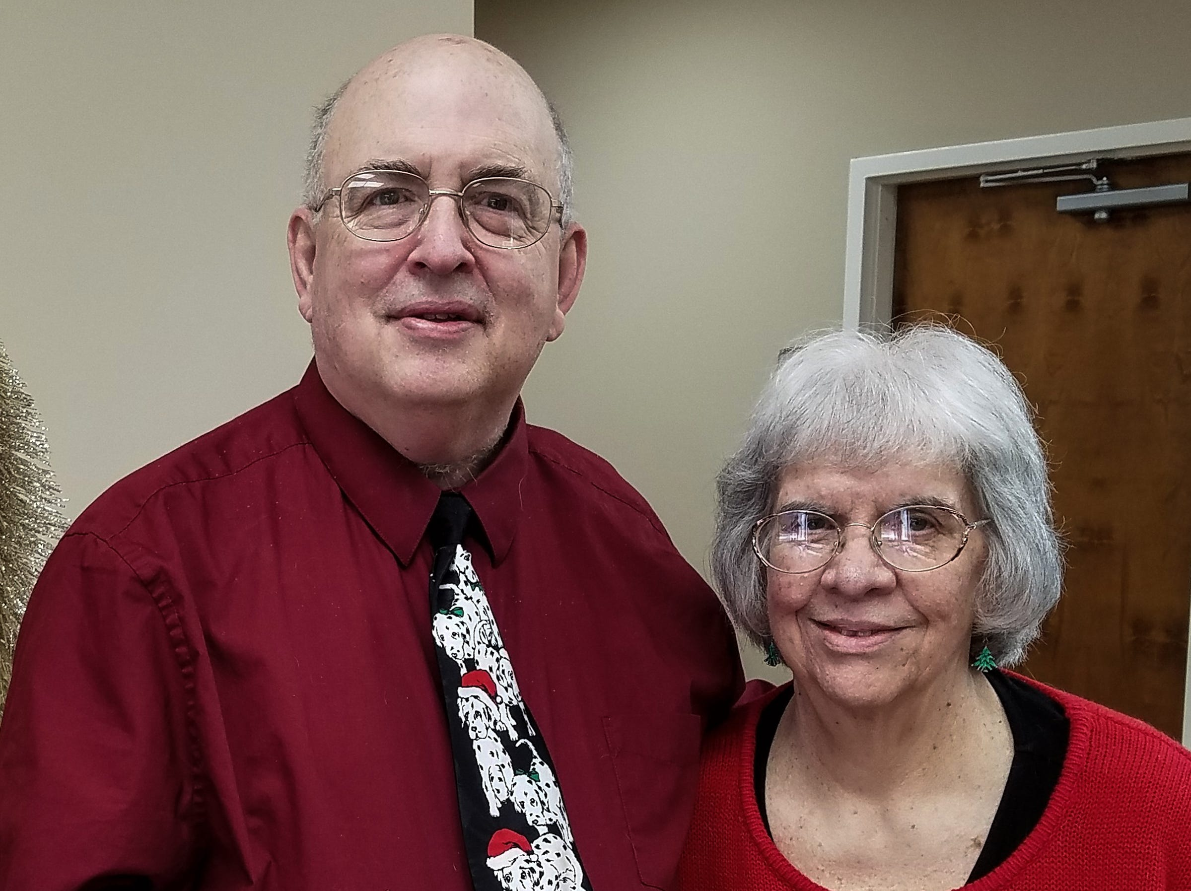 Richard and Linda Dupont of Easley during Christmas in December 2018.