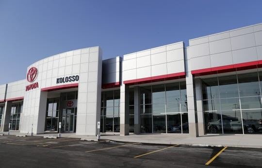The new Kolosso Toyota showroom and service center in Grand Chute.