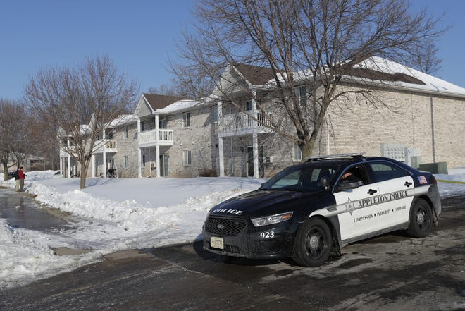 Appleton police investigate a suspicious death Friday at an apartment complex in the 200 block of Valley Road.