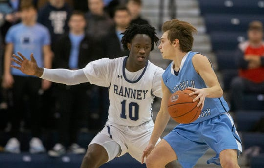 Ranney Boys Basketball vs Freehold Township in Shore Conference Semifinal game in Toms River,  NJ. on February 21, 2019.