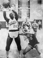 Toms River South's Dan McHarris, shown in agame against Toms River North, scored 13 points and dished out 11 assists in the 1982 SCT final.