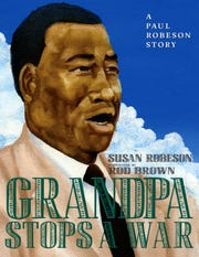 """Cover of Susan Robeson's new book """"Grandpa Stops a War"""""""