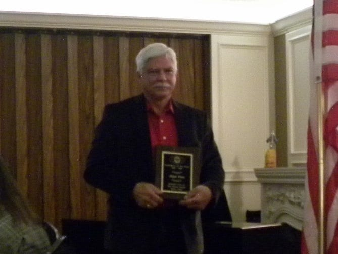 Ralph Watts received the Pecan Valley Kiwanis Club's Layperson of the Year Award for the second year in a row on Feb. 15.