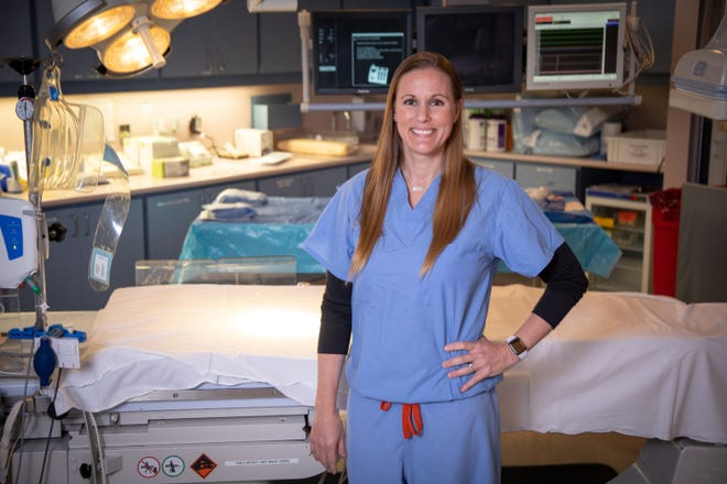 Jeanne Marie Sims is a nurse in the Heart and Vascular Institute at Rockledge Regional Medical Center.