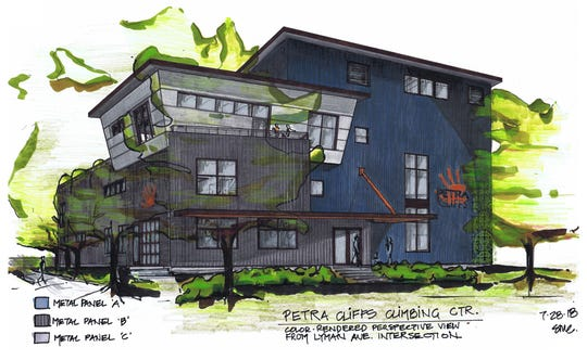 The proposed Petra Cliffs building at 75 Briggs Street in Burlington, rendered here by architect Susan Coddaire, was presented to the city's Development Review Board on Aug. 21, 2018.