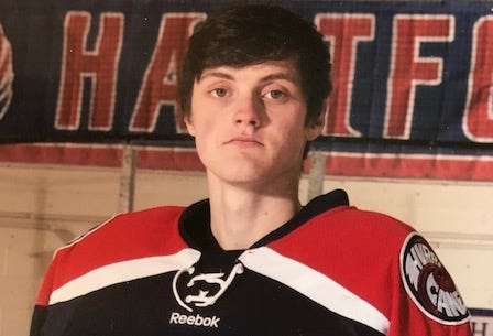 Hartford boys hockey goalie Ross McFate is the Burlington Free Press boys athlete of the week for Feb. 10-16, 2019.