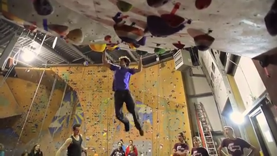 Climbers new and experienced hit the walls at Petra Cliffs in Burlington for annual ABS Bouldering Competition in Oct., 2014.