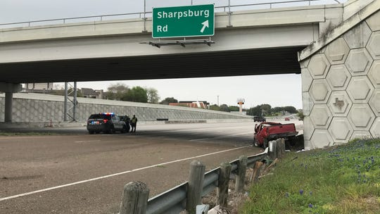 Corpus Christi police officers blocked off a portion of Interstate Highway 69 near Sharpsburg Road for a crash.