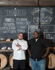 Chef Gardner Wilson, right, shown here last year with former Keg & Kitchen Chef Oliver Munguia, became a dad for the first time this week. (Munguia left the Westmont restaurant to expand his Nicaraguan food truck business).