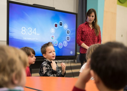Second grader Walker Throne explains what he and some of his fellow classmates observed as they explored Buzzards Roost Nature Preserve and what went into making a short film to educate those about nature as part of their STEM education.