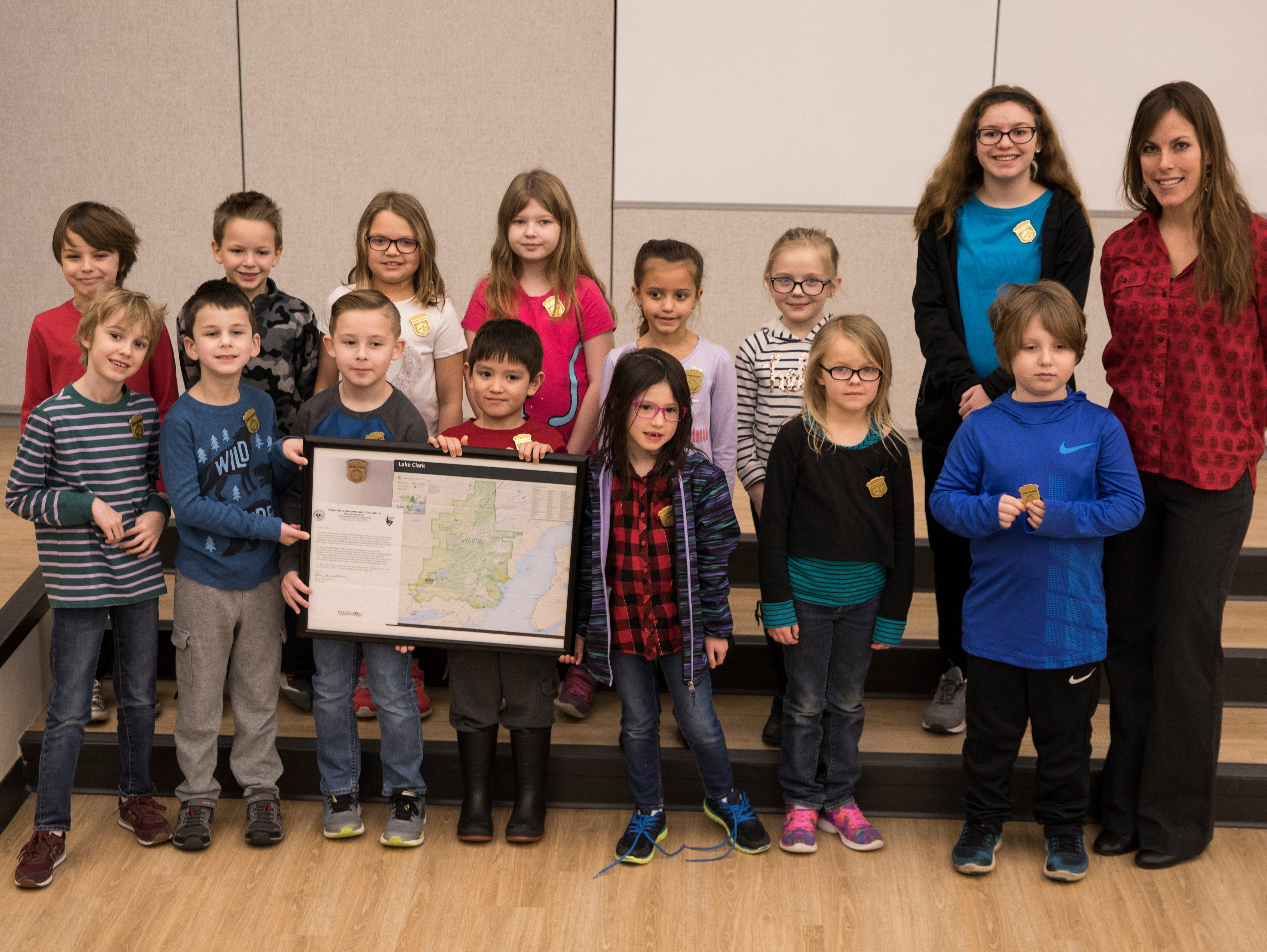 Chillicothe Primary School students became junior rangers after Alaska park rangers saw their inspiring video  based on Leave No Trace.