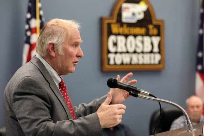 Congressman Steve Chabot visited the Crosby Township Community Center as part of a tour, taking questions from the communities.