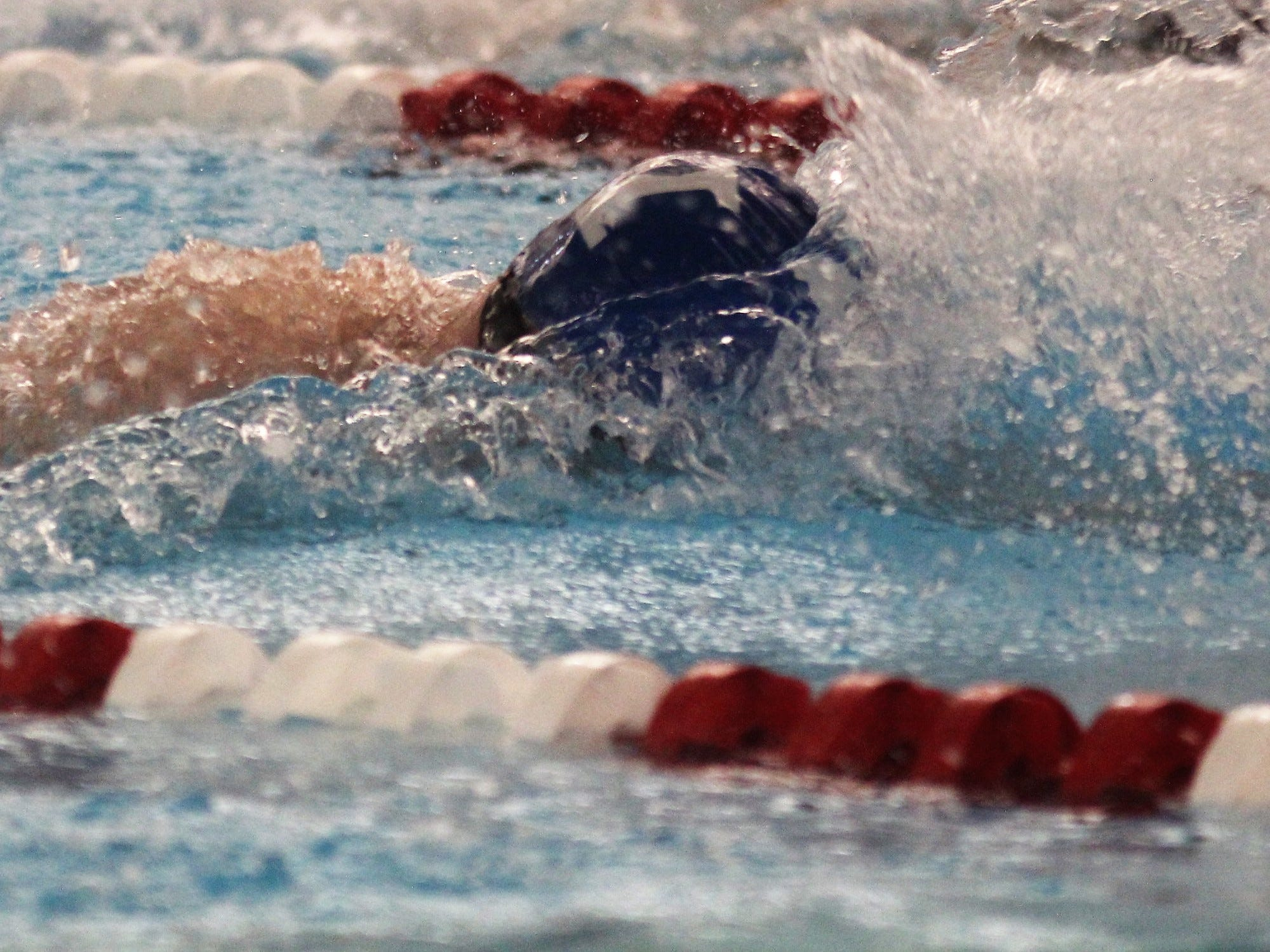 Highlands senior Brendan Conley swims the 200 freestyle during the KHSAA state boys swimming and diving championship Feb. 22, 2019 at the University of Louisville.