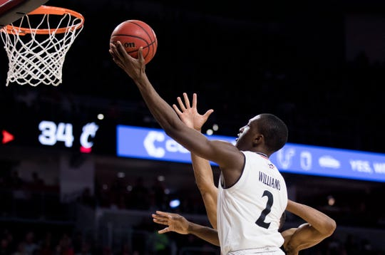 Cincinnati Bearcats guard Keith Williams (2) and teammates are back home Saturday night against the Memphis Tigers