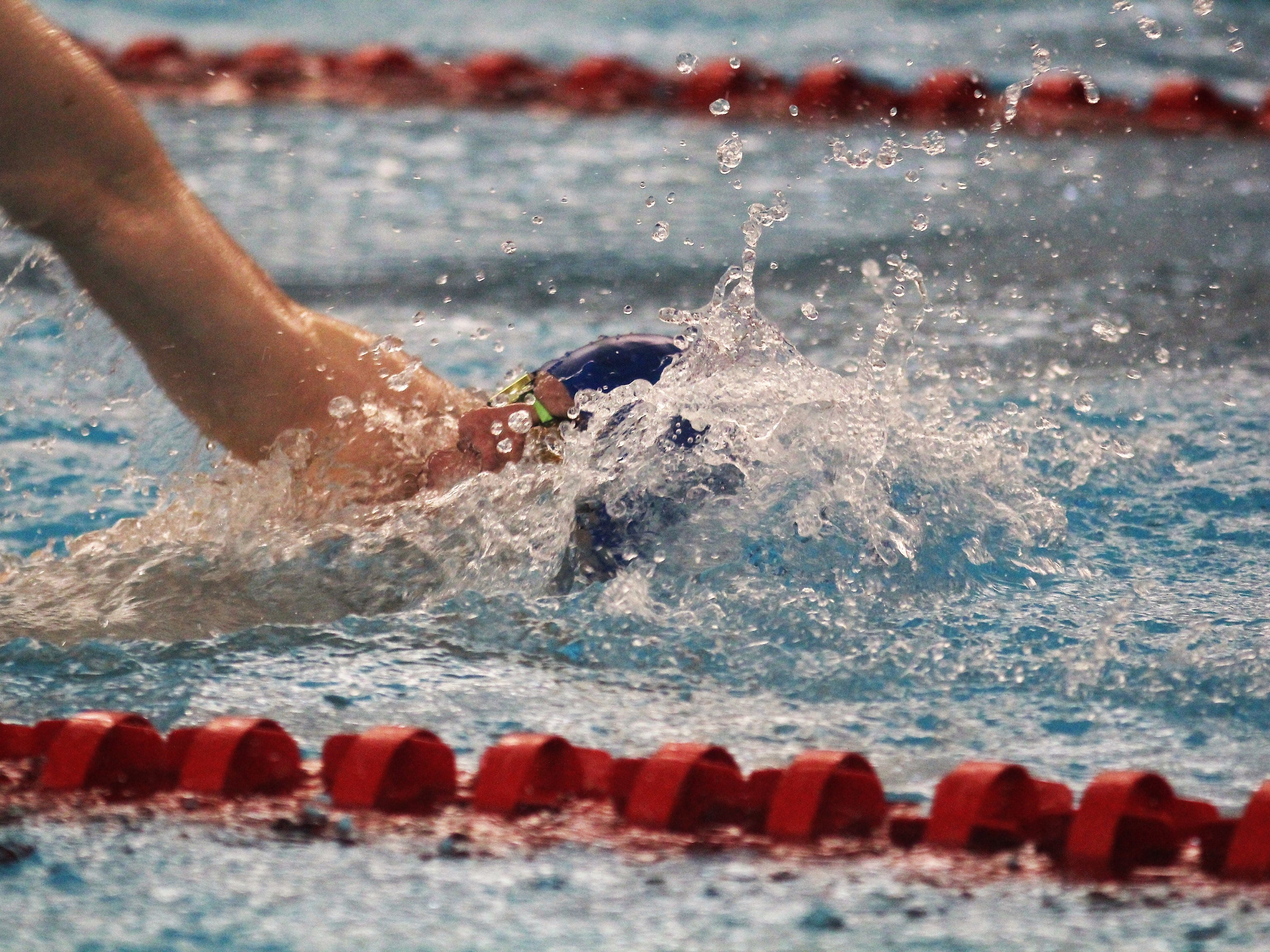 Highlands' Matt Herfel in the 200 IM during the KHSAA state boys swimming and diving championship Feb. 22, 2019 at the University of Louisville.