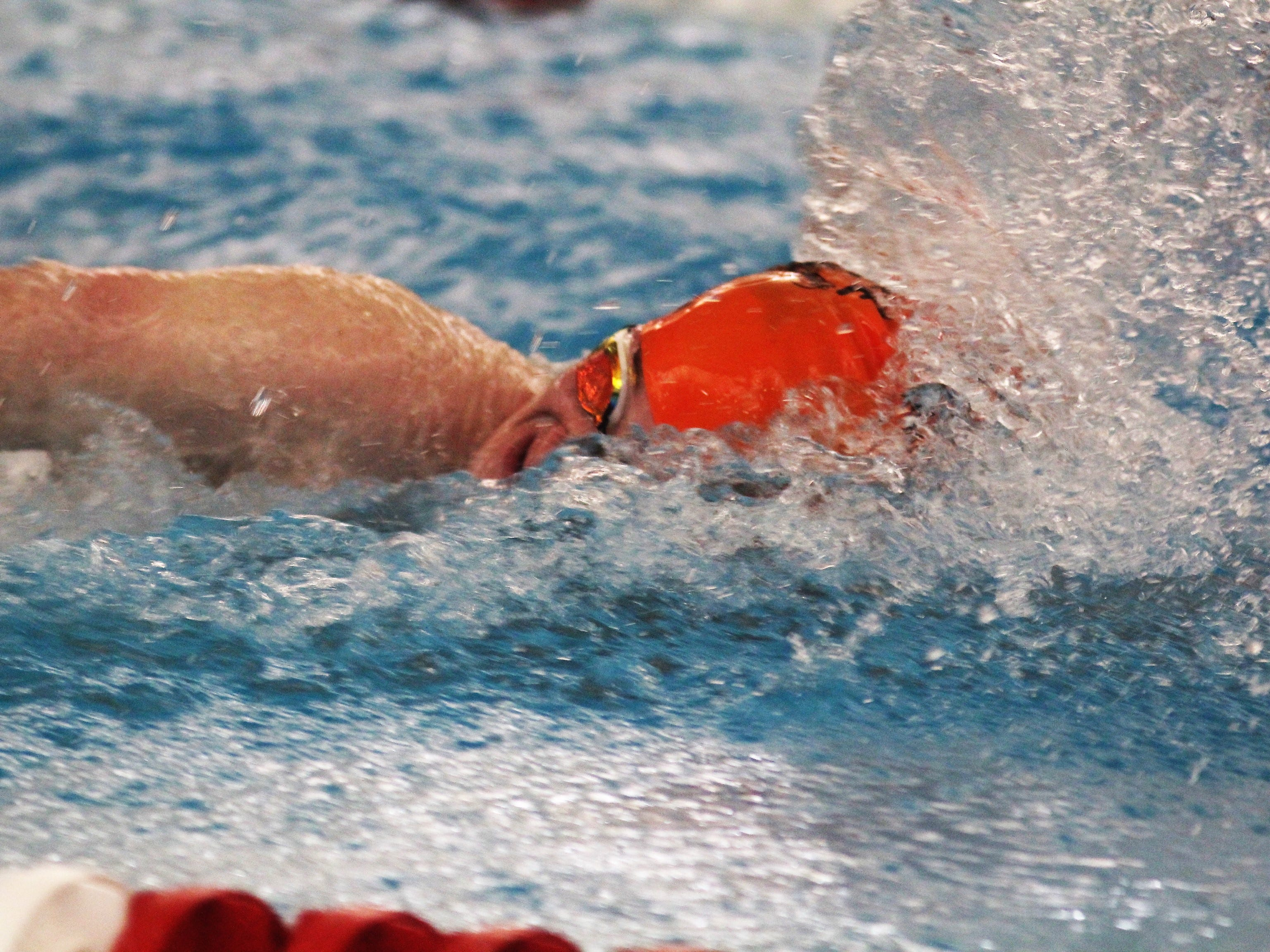 Ryle sophomore Benett Koenigsknecht in the 200 freestyle during the KHSAA state boys swimming and diving championship Feb. 22, 2019 at the University of Louisville.