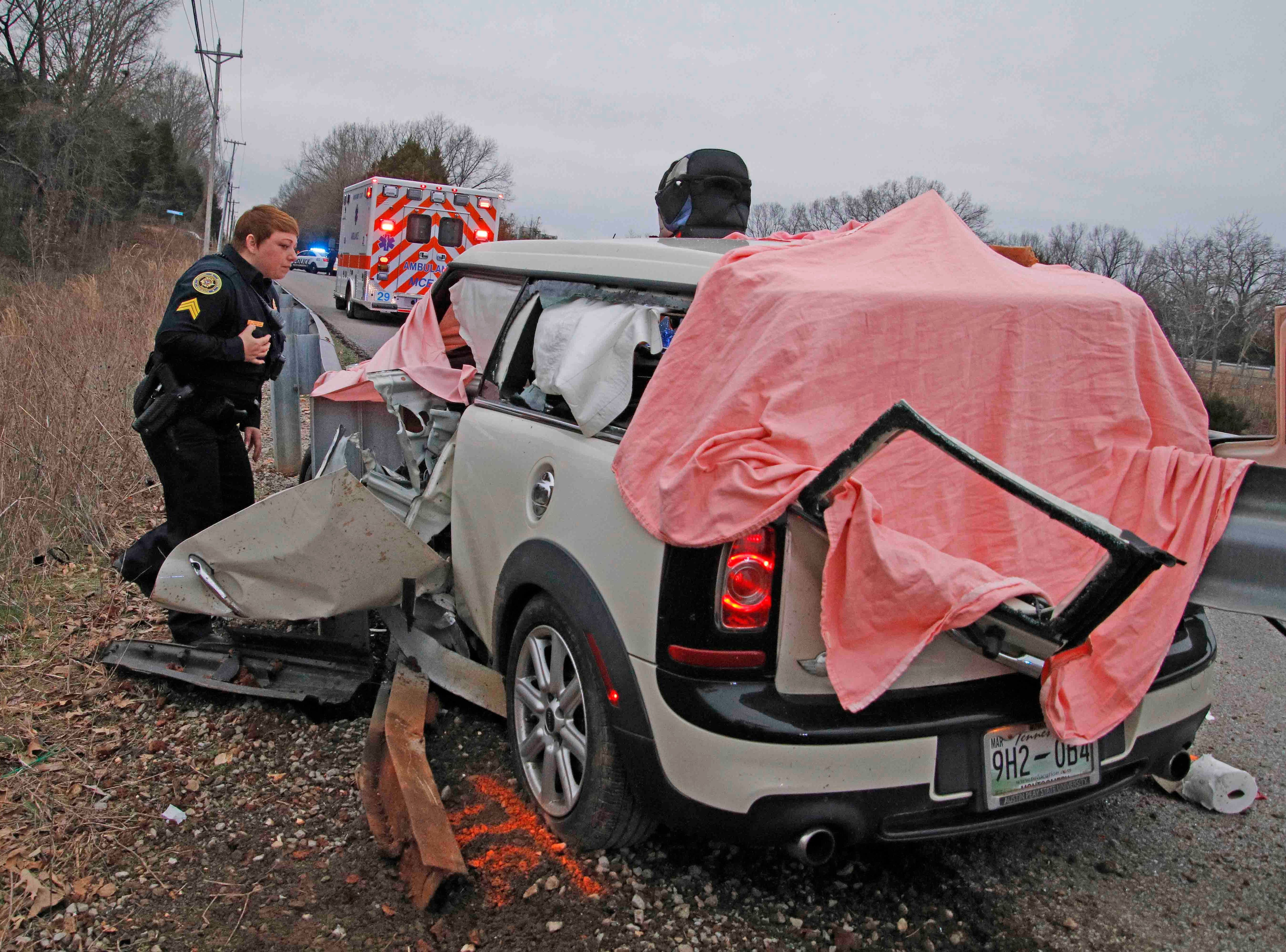 A Clarksville man was killed Thursday afternoon, Feb. 21, 2019, in a one-vehicle crash on Kennedy Lane.