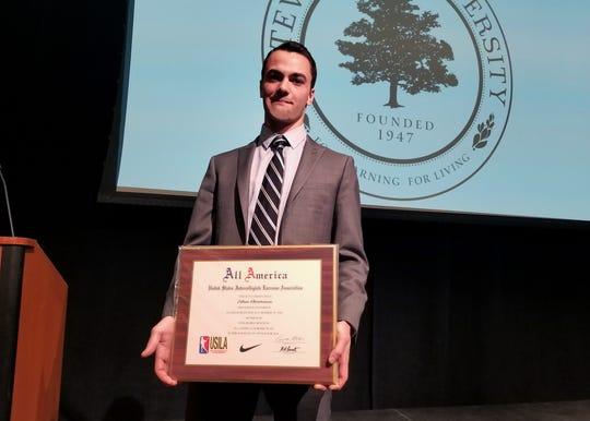 Ethan Christensen of Bridgewater named all America honorable mention at Stevenson University