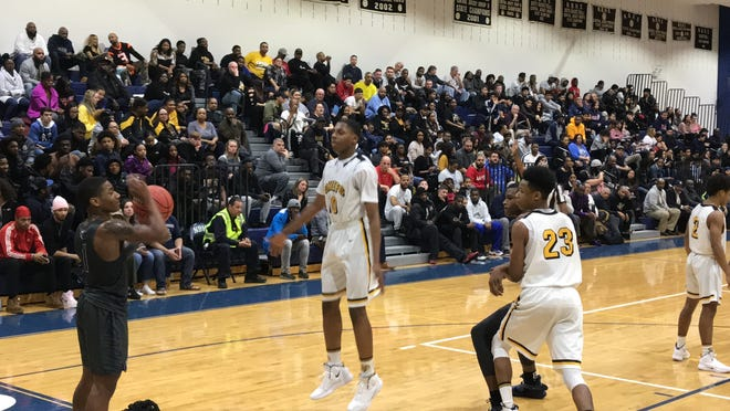 The No. 5 Piscataway boys basketball team advanced to its first GMC Tournament final since 2011 with a 59-49 win over No. 9 New Brunswick on Thursday, Feb. 21, 2019.