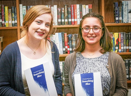 Maggie Erwin (left) and Isabelle LoSapio were editors-in-chief of the award-winning 2018 edition of the Delaware Valley High School literary magazine.