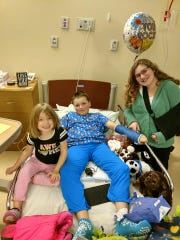Sara Nicholson's children recoveri from the crash at the hospital.