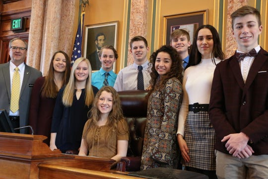 State Rep. John Landon, R-Ankeny, welcomed the Ankeny Mayor's Youth Council to the Iowa House of Representatives last week. The group was visiting the Capitol to meet with elected officials.