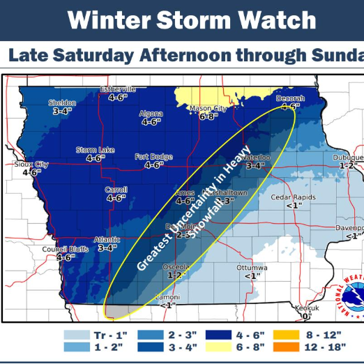 'Blizzard-like' conditions to hit Iowa this weekend. Here's when it's expected and what's expected