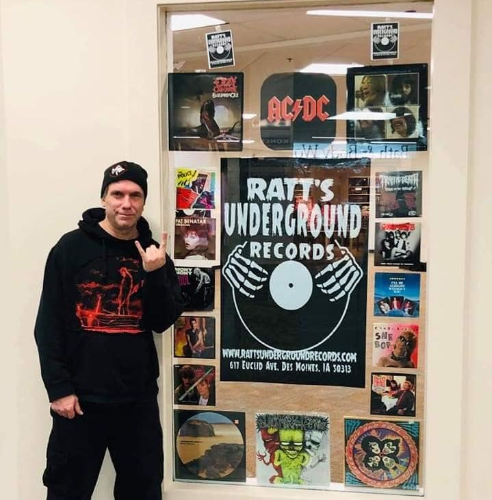Steve Ratcliff, owner of Ratt's Underground Records, is moving into Merle Hay Mall near Flix Brewhouse.