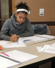 Diamond Arrington, a junior at University Preparatory Academy High School, is hoping the Score Your Four will help her earn a high-enough SAT score to qualify for a scholarship.