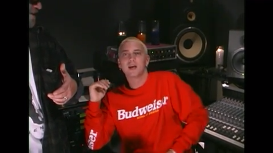 "Rare video captures Eminem and the Bass Brothers 20 years ago during the ""The Slim Shady LP"" release"