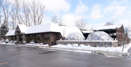 The Deadwood Bar and Grill in Northville features two outdoor dinning igloos.