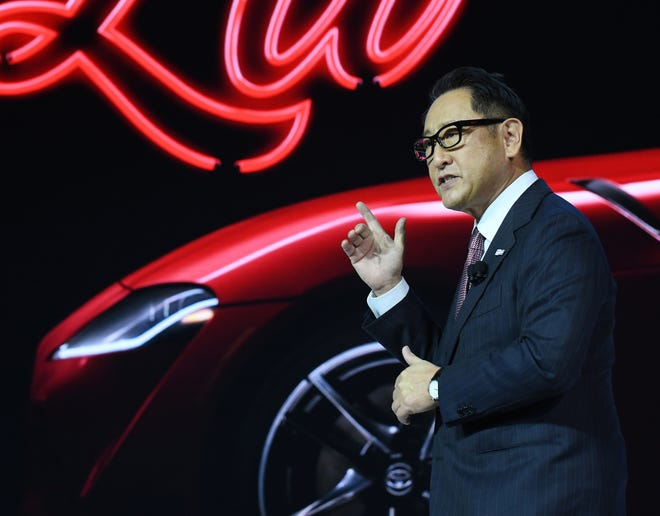 Toyota's President Akio Toyoda says tariffs would ripple across the industry.