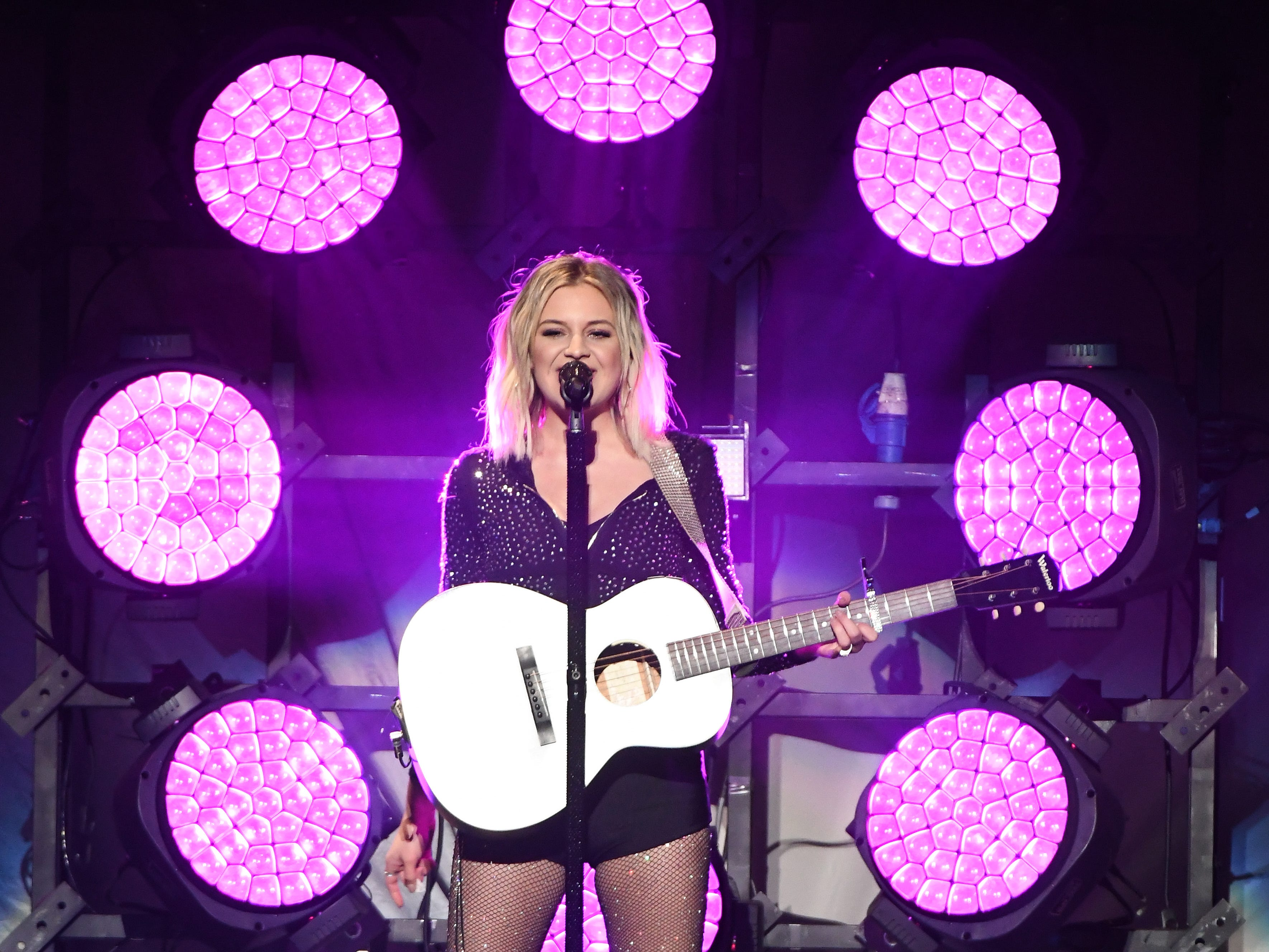 Kelsea Ballerini performs, opening before Kelly Clarkson takes the stage.