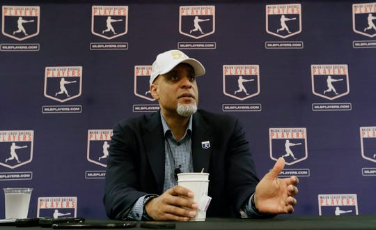Starting his tour of spring training camps, Tony Clark said he isn't drawing conclusions about the market based on Manny Machado's $300 million, 10-year contract with the San Diego Padres.